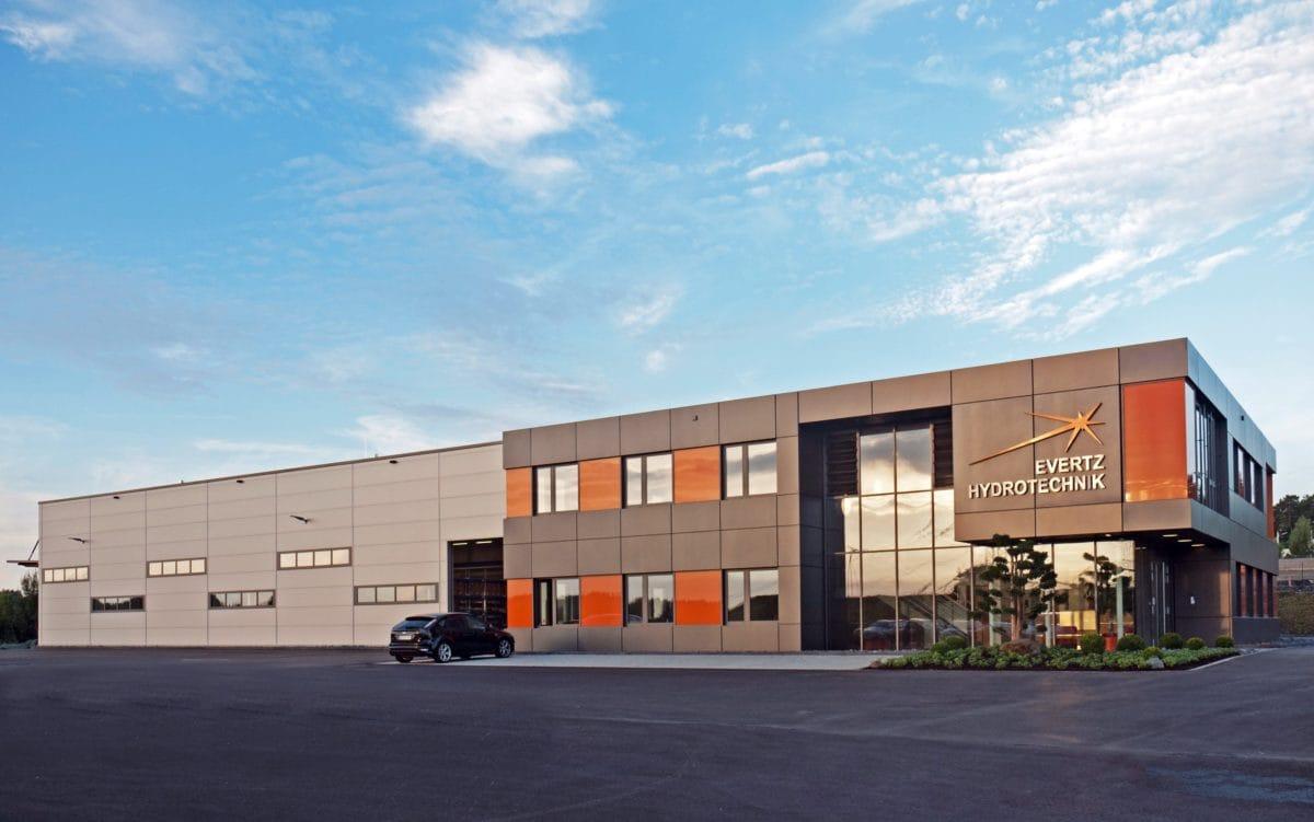 Neubau Bürogebäude und Montagehalle | Perspektive