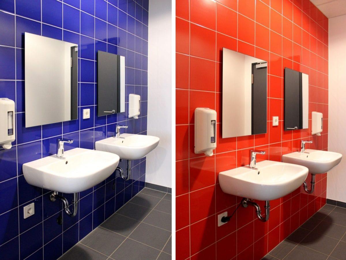 Neubau Schulgebäude mit Mensa in modularer Bauweise | WC-Jungen, WC-Mädchen