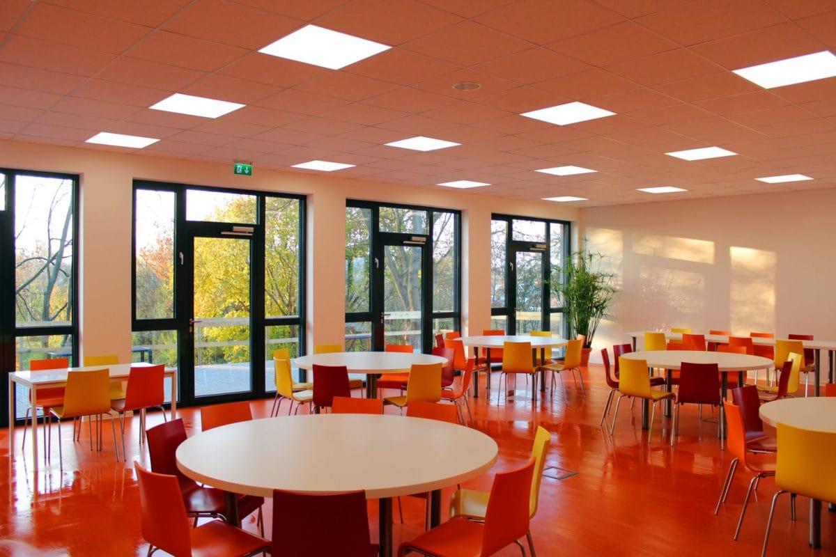 Neubau Schulgebäude mit Mensa in modularer Bauweise | Mensa
