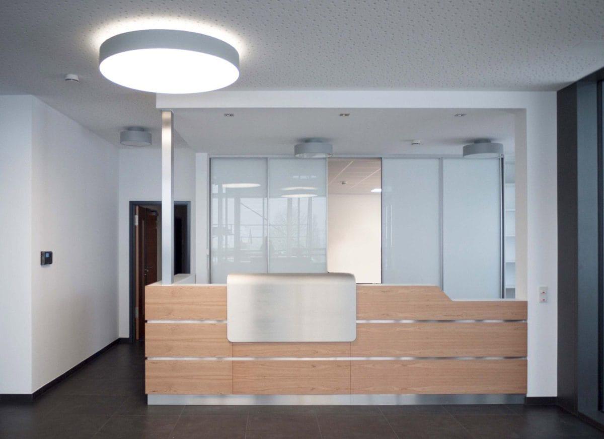 Neubau Bürogebäude und Montagehalle | Empfang