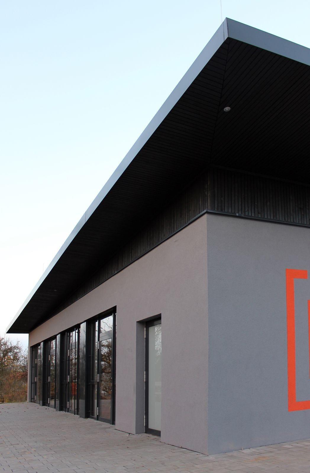 Neubau Schulgebäude mit Mensa in modularer Bauweise | Perspektive