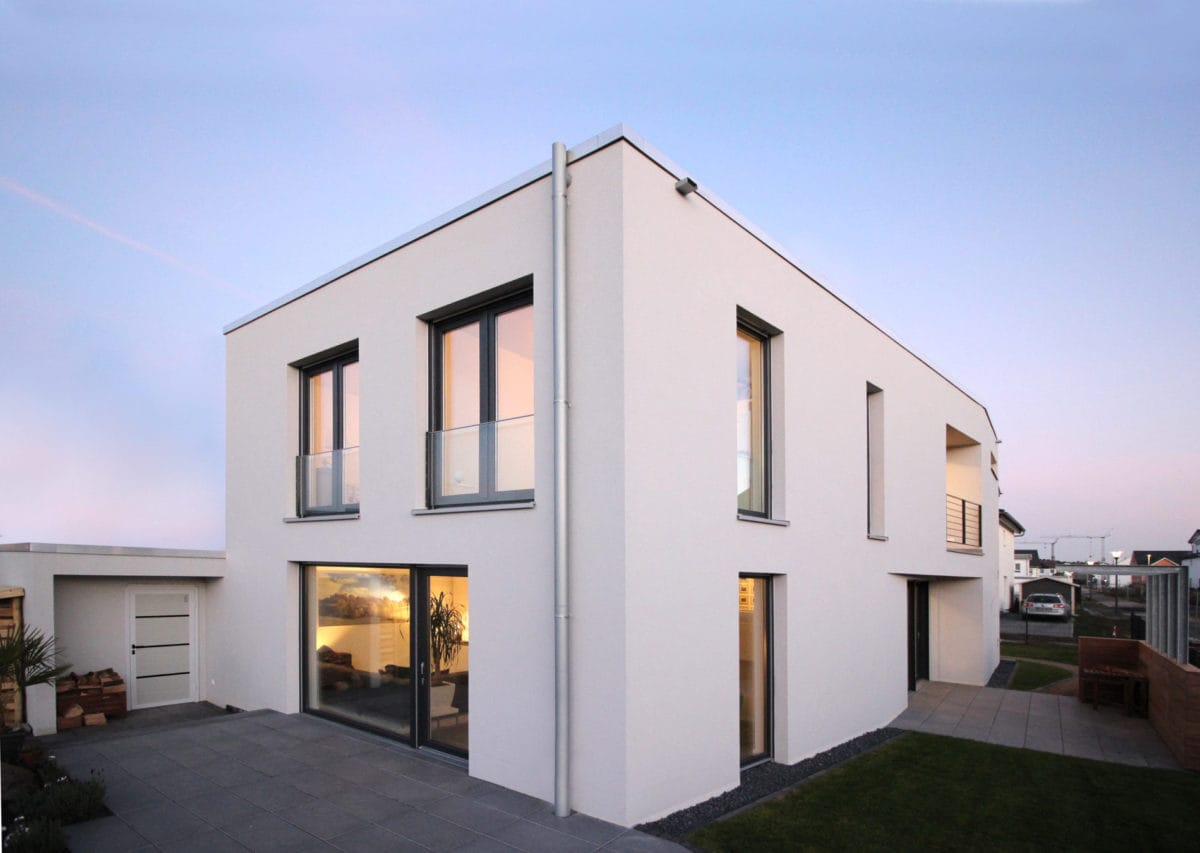 Neubau Haus in Bonn | Perspektive Garten