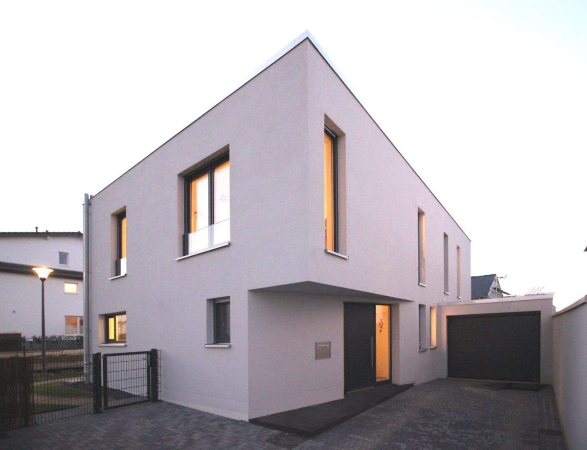 Neubau Haus in Bonn | Perspektive Eingang
